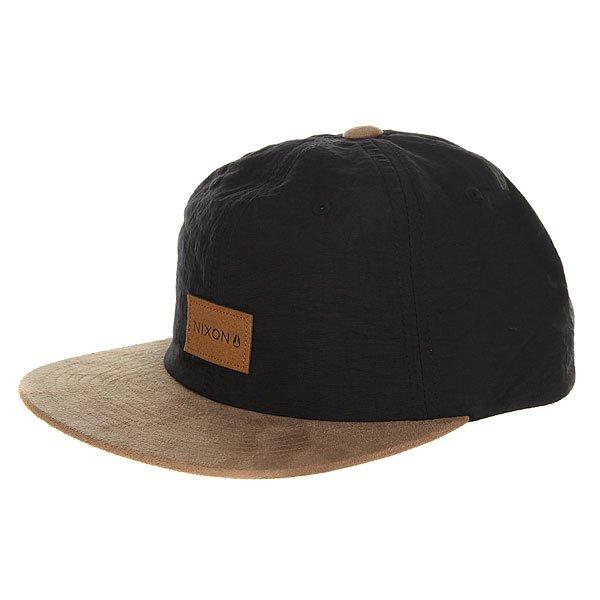 Бейсболка с прямым козырьком Nixon Wrangler Snapback Hat Black/Saddle<br><br>Цвет: черный,бежевый<br>Тип: Бейсболка с прямым козырьком<br>Возраст: Взрослый<br>Пол: Мужской