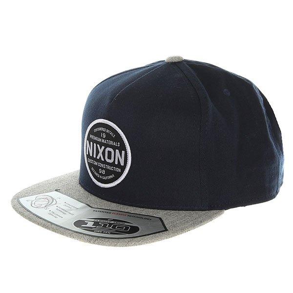 Бейсболка с прямым козырьком Nixon Lazaro 110 Snapback Hat Navy<br><br>Цвет: серый,синий<br>Тип: Бейсболка с прямым козырьком<br>Возраст: Взрослый