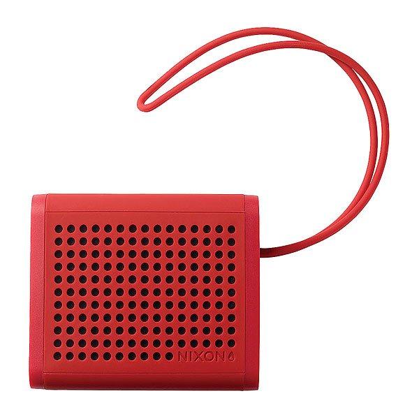 Колонка Nixon Mini Blaster RedКомпактные колонки, которые готовы задать жару и сделать Вас звездой компании. Благодаря силиконовому покрытию колонка считается пыле- и водо- нипроницаемой, что позволит брать ее как на вейк, так и на мото тусовку.А если Вам недостаточно звука, то стоит подключить вторую колонку для стерео-звука.Характеристики:Подключение поBluetooth: v2.1 + EDR, A2DP, AVRCP, HFP, HSP. Дальность действия: 10 метров. Водостойкость: Да. Батарея держит: 6-8 часов. Вход: AUX. Примерный вес: 340 грамм. Силиконовый ремешок.Кнопки увеличения/уменьшения громкости. Кнопки переключения треков вперед/назад. Диапазон частот: 200 - 20 000Hz. Выходная мощность: 3W RMS х 2.Электропитание: 5VDC 500mA, 5VDC1A. Размеры: 10,92 x9.53 x4.45 см. В комплекте: Mini Blaster - беспроводной динамик, USB-кабель для зарядки, AUX аудио кабель, Руководство пользователя, USB - AC адаптер.<br><br>Цвет: красный<br>Тип: Колонка<br>Возраст: Взрослый<br>Пол: Мужской