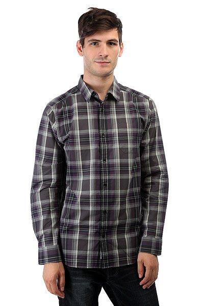 Рубашка в клетку Nixon La Paz Dark Gray