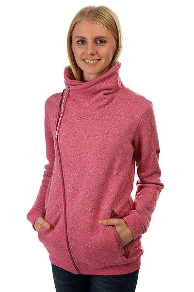 Толстовка классическая женская Roxy Good Sangria<br><br>Цвет: розовый<br>Тип: Толстовка классическая<br>Возраст: Взрослый<br>Пол: Женский