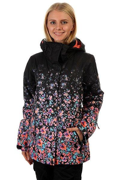 Куртка женская Roxy Rxjettygradient Gradient Flowers TrueЕсли Вы начинающий сноубордист и для собственной безопасности хотите быть заметной на склоне - куртка Roxy Jetty отлично справится с подобной задачей. Если Вы совершенствующийся сноубордист и, катаясь во фрирайде, Вам необходимо быть легко различимой среди елок и белого паудера - ещё раз, Roxy Jetty. Функциональна, продуманна и вряд ли уступит по стилю и яркости какой-либо другой модели. В перечне важных характеристик находятся утеплитель Warmflight®, подкладка из тафты, проклеенные критические швы, снегозащитная юбка, многочисленные карманы, включая карман для ски-пасса, и вентиляционные отверстия с сетчатой подкладкой. Тепло, комфорт и свобода действий в одной из лучших моделей сезона.Характеристики:Влагостойкая ткань Dry Flight 10K.Утеплитель Warmflight®: 120 г тело / 100 г рукава / 60 г капюшон. Подкладка из тафты и трикотажа с начёсом. Стандартный крой. Проклеенные критические швы. Снегозащитная юбка.Система присоединения куртки к штанам. Регулируемый капюшон в 3-х направлениях. Мягкая подкладка в области шеи. Боковые карманы с теплой подкладкой.Нагрудный карман на молнии. Внутренний карман для маски. Медиа-карман. Карман для ски-пасса на молнии на рукаве. Регулируемые внешние манжеты на липучке. Манжеты из лайкры с отверстием для большого пальца. Вентиляционные отверстия с сетчатой подкладкой.<br><br>Цвет: черный,мультиколор<br>Тип: Куртка утепленная<br>Возраст: Взрослый<br>Пол: Женский