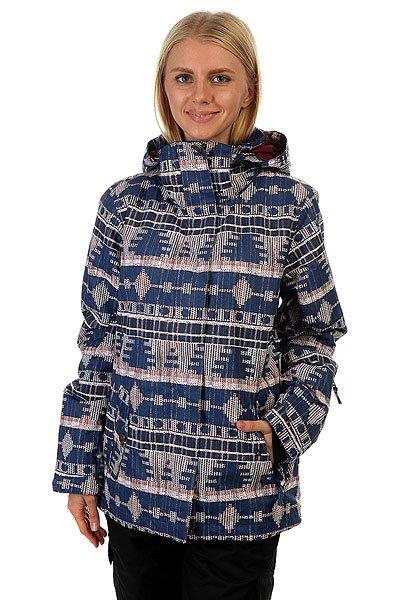 Куртка женская Roxy Rx Jetty Akiya Print Blue PriВ этой куртке Вам будет комфортно на заснеженном склоне, и не нужно будет думать о тепле, сухости и комфорте. Характеристики:Влагостойкая ткань Dry Flight 10K. Утеплитель: 200 г тело / 140 г рукава / 60 г капюшон. Подкладка из тафты и трикотажа с начёсом. Стандартный крой. Проклеенные критические швы.Снегозащитная юбка. Боковые карманы. Внутренний карман для маски.Регулируемые внешние манжеты на липучке. Карман для ски-пасса на молнии на рукаве.<br><br>Цвет: синий,мультиколор<br>Тип: Куртка утепленная<br>Возраст: Взрослый<br>Пол: Женский