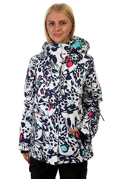 Куртка женская Roxy Rx Jetty Butterfly Blue PrintВ этой куртке Вам будет комфортно на заснеженном склоне, и не нужно будет думать о тепле, сухости и комфорте. Характеристики:Влагостойкая ткань Dry Flight 10K. Утеплитель: 200 г тело / 140 г рукава / 60 г капюшон. Подкладка из тафты и трикотажа с начёсом. Стандартный крой. Проклеенные критические швы.Снегозащитная юбка. Боковые карманы. Внутренний карман для маски.Регулируемые внешние манжеты на липучке. Карман для ски-пасса на молнии на рукаве.<br><br>Цвет: белый,синий<br>Тип: Куртка утепленная<br>Возраст: Взрослый<br>Пол: Женский