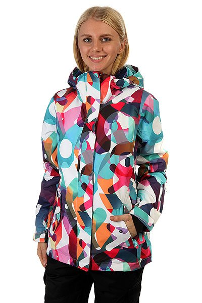 Куртка женская Roxy Jetty Jk Milo Typo Bright White