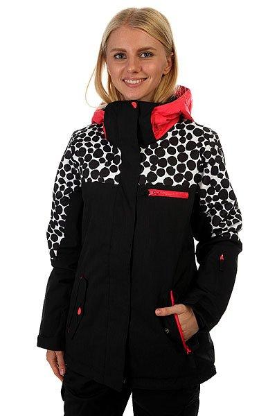 Куртка женская Roxy Rx Jetty Blo Irregular Dots TrueЕсли Вы начинающий сноубордист и для собственной безопасности хотите быть заметной на склоне - куртка Roxy Jetty Block отлично справится с подобной задачей. Если Вы совершенствующийся сноубордист и, катаясь во фрирайде, Вам необходимо быть легко различимой среди елок и белого паудера - ещё раз, Roxy Jetty Block. Функциональна, продуманна и вряд ли уступит по стилю и яркости какой-либо другой модели. В перечне важных характеристик находятся утеплитель Warmflight®, подкладка из тафты, проклеенные критические швы, снегозащитная юбка, многочисленные карманы, включая карман для ски-пасса, и вентиляционные отверстия с сетчатой подкладкой. Тепло, комфорт и свобода действий в одной из лучших моделей сезона с ярким принтом от художницы Хэтти Стюарт.Характеристики:Влагостойкая ткань Dry Flight 10K.Утеплитель Warmflight®: 120 г тело / 100 г рукава / 60 г капюшон. Подкладка из тафты и трикотажа с начёсом. Стандартный крой. Проклеенные критические швы.Снегозащитная юбка. Система присоединения куртки к штанам. Регулируемый капюшон в 3-х направлениях. Мягкая подкладка в области шеи. Боковые карманы с теплой подкладкой. Нагрудный карман на молнии. Внутренний карман для маски.Медиа-карман. Карман для ски-пасса на молнии на рукаве. Регулируемые внешние манжеты на липучке. Манжеты из лайкры с отверстием для большого пальца.Вентиляционные отверстия с сетчатой подкладкой. Принт художницы мирового уровня Хэтти Стюарт.<br><br>Цвет: черный,белый,розовый<br>Тип: Куртка утепленная<br>Возраст: Взрослый<br>Пол: Женский