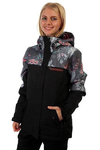Куртка женская Roxy Rx Jetty Blo Jk Hawaiian Tropik ParaЕсли Вы начинающий сноубордист и для собственной безопасности хотите быть заметной на склоне - куртка Roxy Jetty Block отлично справится с подобной задачей. Если Вы совершенствующийся сноубордист и, катаясь во фрирайде, Вам необходимо быть легко различимой среди елок и белого паудера - ещё раз, Roxy Jetty Block. Функциональна, продуманна и вряд ли уступит по стилю и яркости какой-либо другой модели. В перечне важных характеристик находятся утеплитель Warmflight®, подкладка из тафты, проклеенные критические швы, снегозащитная юбка, многочисленные карманы, включая карман для ски-пасса, и вентиляционные отверстия с сетчатой подкладкой. Тепло, комфорт и свобода действий в одной из лучших моделей сезона с ярким принтом от художницы Хэтти Стюарт.&amp;nbsp;Характеристики:Влагостойкая ткань Dry Flight 10K.Утеплитель Warmflight®: 120 г тело / 100 г рукава / 60 г капюшон. Подкладка из тафты и трикотажа с начёсом. Стандартный крой. Проклеенные критические швы.Снегозащитная юбка. Система присоединения куртки к штанам. Регулируемый капюшон в 3-х направлениях. Мягкая подкладка в области шеи. Боковые карманы с теплой подкладкой. Нагрудный карман на молнии. Внутренний карман для маски.Медиа-карман. Карман для ски-пасса на молнии на рукаве. Регулируемые внешние манжеты на липучке. Вентиляционные отверстия с сетчатой подкладкой. Принт художницы мирового уровня Хэтти Стюарт.<br><br>Цвет: черный,мультиколор<br>Тип: Куртка утепленная<br>Возраст: Взрослый<br>Пол: Женский