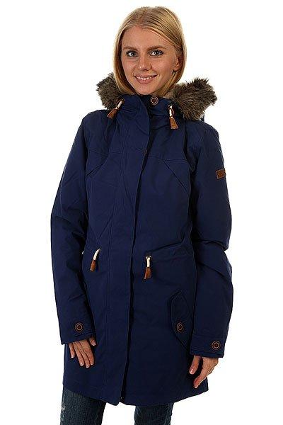 Куртка парка женская Roxy Amy 3n1 Blue PrintКуртка-парка «3 в 1» Amy – наилучший вариант в вопросе стиля и комфорта для современной городской модницы. Характеристики:Внешний слой – шелл + подкладка из хлопка-шамбре. Внутренний слой – утеплитель Warmflight® (60 г).Внутренний слой – подкладка из шерпы. Фиксированный капюшон на утяжке.Капюшон со съемной меховой оторочкой. Карманы на теплой подкладке на пуговице. Регулируемая талия на утяжке. Скругленная линия подола. Внутренний слой (куртка-подкладка) – фиксированный капюшон и карманы на теплой подкладке на пуговице.<br><br>Цвет: синий<br>Тип: Куртка парка<br>Возраст: Взрослый<br>Пол: Женский