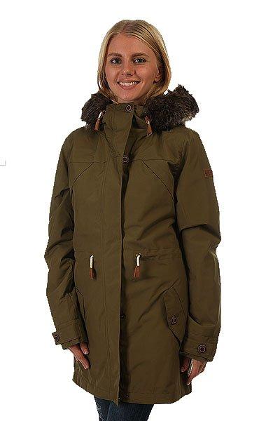 Куртка парка женская Roxy Amy 3n1 Military OliveКуртка-парка «3 в 1» Amy – наилучший вариант в вопросе стиля и комфорта для современной городской модницы. Характеристики:Внешний слой – шелл + подкладка из хлопка-шамбре. Внутренний слой – утеплитель Warmflight® (60 г).Внутренний слой – подкладка из шерпы. Фиксированный капюшон на утяжке.Капюшон со съемной меховой оторочкой. Карманы на теплой подкладке на пуговице. Регулируемая талия на утяжке. Скругленная линия подола. Внутренний слой (куртка-подкладка) – фиксированный капюшон и карманы на теплой подкладке на пуговице.<br><br>Цвет: зеленый<br>Тип: Куртка парка<br>Возраст: Взрослый<br>Пол: Женский