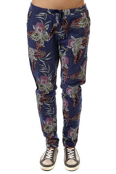 Штаны прямые женские Roxy Harmony Castaway Floral Heat<br><br>Цвет: синий,мультиколор<br>Тип: Штаны прямые<br>Возраст: Взрослый<br>Пол: Женский