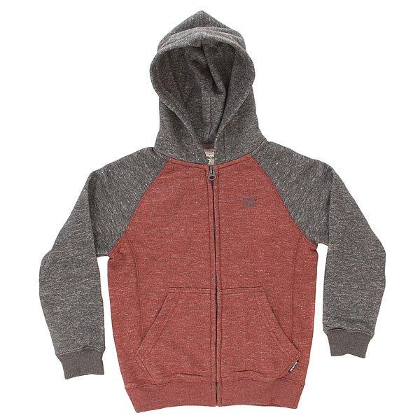 Толстовка классическая детская Billabong Zip Hood Rust<br><br>Цвет: бордовый,серый<br>Тип: Толстовка классическая<br>Возраст: Детский