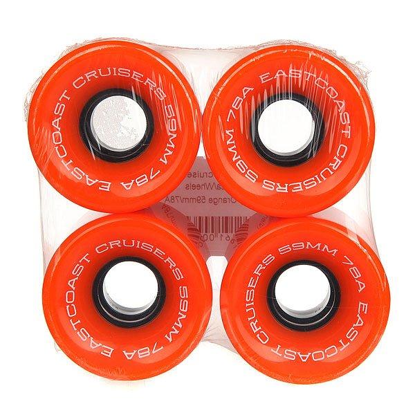 Колеса для скейтборда для лонгборда Eastcoast Shelby Orange 78A 59 mmЖесткость: 78A    Цена указана за комплект из 4-х колесКлассические колеса для лонгбордов и круизеров, мягкие и комфортные.Технические характеристики: Жесткость 78 А.Диаметр 59 мм.В комплекте 4 колеса.<br><br>Цвет: оранжевый<br>Тип: Колеса для лонгборда<br>Возраст: Взрослый<br>Пол: Мужской
