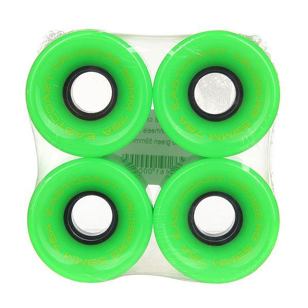 Колеса для скейтборда для лонгборда Eastcoast Shelby Acid Green 78A 59 mmДиаметр: 59 mm    Жесткость: 78A    Цена указана за комплект из 4-х колесКлассические колеса для лонгбордов и круизеров, мягкие и комфортные.Технические характеристики: Жесткость 78 А.Диаметр 59 мм.В комплекте 4 колеса.<br><br>Цвет: зеленый<br>Тип: Колеса для лонгборда<br>Возраст: Взрослый<br>Пол: Мужской
