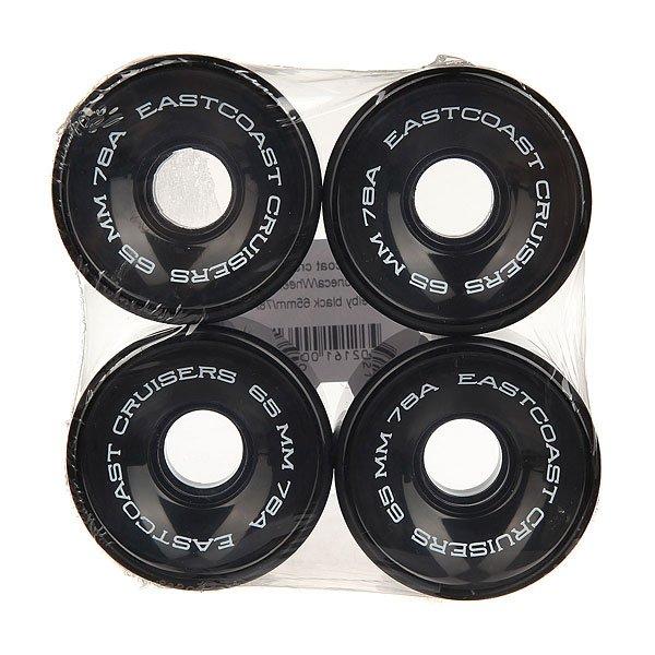 Колеса для скейтборда для лонгборда Eastcoast Shelby Black 78A 65 mmДиаметр: 65 mm    Жесткость: 78A    Цена указана за комплект из 4-х колесКлассические колеса для лонгбордов и круизеров, мягкие и комфортные.Технические характеристики: Жесткость 78 А.Диаметр 65 мм.В комплекте 4 колеса.<br><br>Цвет: черный<br>Тип: Колеса для лонгборда<br>Возраст: Взрослый<br>Пол: Мужской