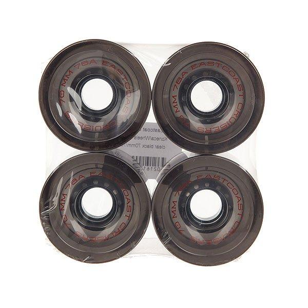 Колеса для скейтборда для лонгборда Eastcoast Shelby Clear Black 78A 70 mm