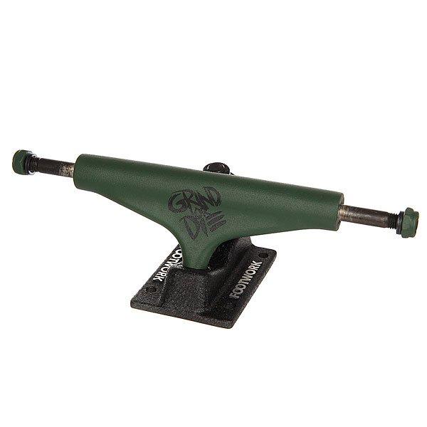 Подвески для скейтборда для скейтборда 2шт. Footwork Grind Or Die Black/Green 5.25 (20.3 см)Цена указана за 2 штКлассические подвески для скейтборда от Footwork. Проверенная временем конструкция и традиционная геометрия.Технические характеристики: Материал - алюминий и сталь.Ширина - 13,3 см.Отлично подойдут для деки шириной 20,3 см - 21 см.<br><br>Цвет: зеленый,черный<br>Тип: Подвески для скейтборда<br>Возраст: Взрослый<br>Пол: Мужской