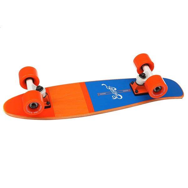 Скейт мини круизер Eastcoast Shelby Orange 6.25 x 23 (58.4 см)Всеми любимая форма мини круизера из канадского клена. Стильный, легкий, маневренный и устойчивый. Ни что не сможет заменить настоящие ощущения деревянного скейтборда под ногами!Технические характеристики: Длина - 58,4 см, ширина - 16 см.7 слоев канадского клена.Плоский конкейв с киктейлом.Подвески Footwork.Колеса Eastcoast 59 мм 78 А.Подшипники Abec 7.Прозрачная шкурка.<br><br>Цвет: оранжевый,синий<br>Тип: Скейт мини круизер<br>Возраст: Взрослый<br>Пол: Мужской