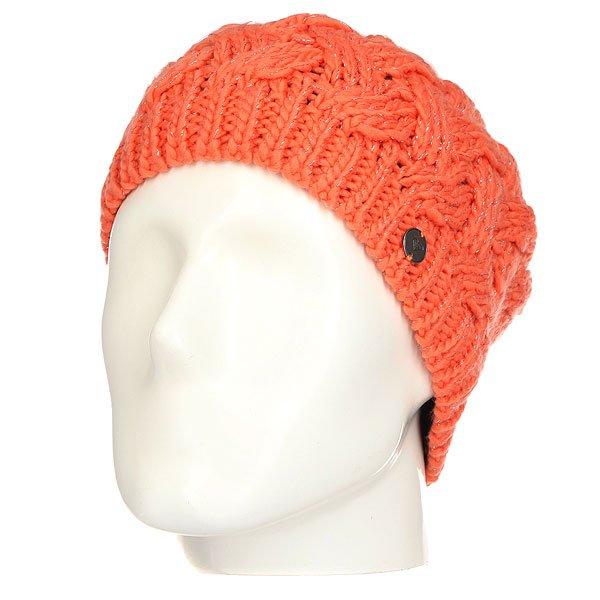 Шапка женская Roxy Love&amp;snowbeanie Camellia<br><br>Цвет: оранжевый<br>Тип: Шапка<br>Возраст: Взрослый<br>Пол: Женский