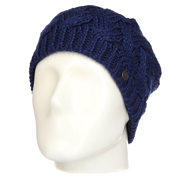 Шапка женская Roxy Love&amp;snowbeanie Blue Print<br><br>Цвет: синий<br>Тип: Шапка<br>Возраст: Взрослый<br>Пол: Женский