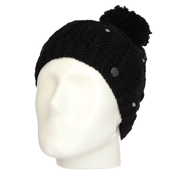 Шапка женская Roxy Shootstarbeanie True Black roxy гейтор roxy winter true black fw17
