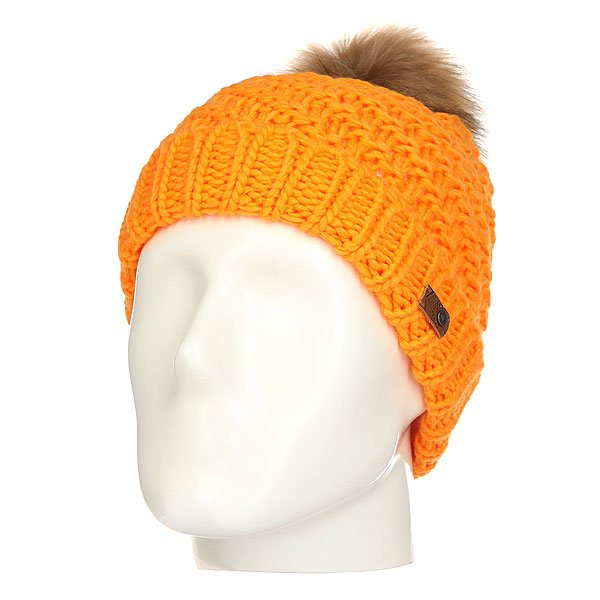 Шапка женская Roxy Blizzard Blazing Yellow<br><br>Цвет: оранжевый<br>Тип: Шапка<br>Возраст: Взрослый<br>Пол: Женский
