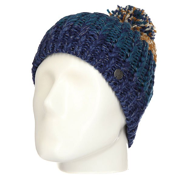 Шапка женская Roxy Polly Bl Blue Print шапка женская roxy fjord blue radiance