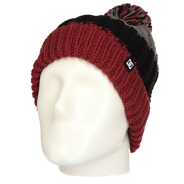 Шапка носок женская DC Elm Heather Pewter шапка детская dc label youth hats dark shadow heather