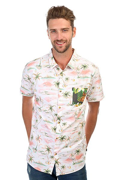 Рубашка Rip Curl Brashy Ss Shirt Optical White