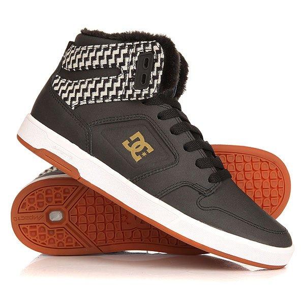 Кеды кроссовки утепленные женские DC Argosy High Black/Gold dc shoes кеды dc heathrow se 11