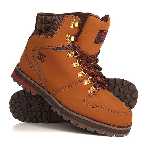 Ботинки высокие DC Peary CocoaМужские демисезонные ботинки Peary от DC Shoes.Технические характеристики: Текстильная подкладка.Усиленные носок и пятка.Язык и лодыжка из материала CORDURA®.Отверстия для шнуровки с металлической окантовкой и металлические крючки.Удобные язык и лодыжка с пенным наполнителем.Стеганый воротник.Промежуточная подошва из полимера EVA.Универсальная износостойкая каучуковая подошва.Водостойкие материалы.<br><br>Цвет: коричневый<br>Тип: Ботинки высокие<br>Возраст: Взрослый<br>Пол: Мужской