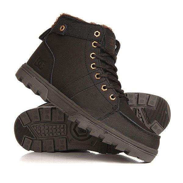 Ботинки высокие DC Woodland Black CamoТеплые и комфортные мужские ботинки Woodland от DC Shoes.Технические характеристики: Кожаный верх.Подкладка из шерпы.Шестигранные металлические люверсы и круглая шнуровка.Удобные язык и лодыжка с пенным наполнителем.Уплотненная пятка с петлей и прошитый носок.Износостойкая каучуковая подошва.Рельефный рисунок протектора.<br><br>Цвет: черный<br>Тип: Ботинки высокие<br>Возраст: Взрослый<br>Пол: Мужской