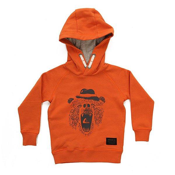 Толстовка классическая детская Quiksilver Miamiam Hood Apricot Orange<br><br>Цвет: оранжевый<br>Тип: Толстовка классическая<br>Возраст: Детский
