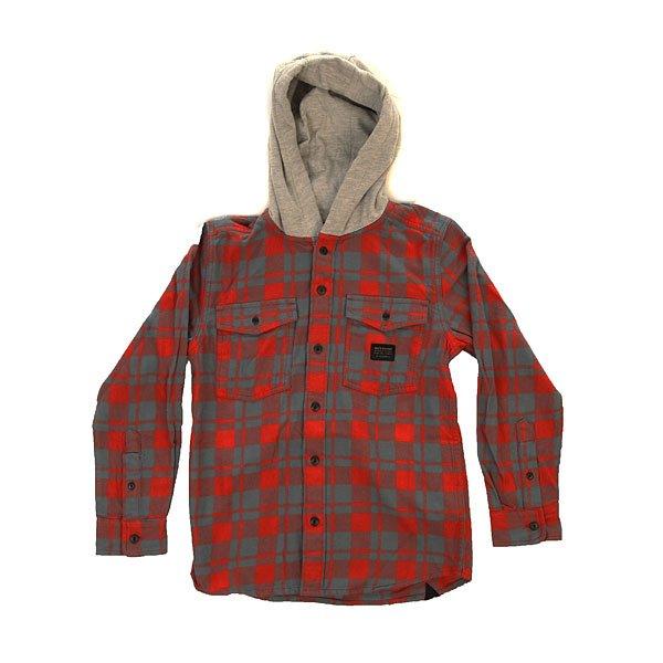 Рубашка в клетку детская детская Quiksilver Snap Up Barn Red<br><br>Цвет: синий,красный,серый<br>Тип: Рубашка в клетку<br>Возраст: Детский