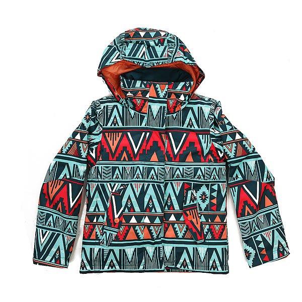 Куртка детская Roxy Rx Jet Kana Stripe Legion BПокоряйте склоны новыми яркими принтами от Roxy! Куртка для девочек, разработанная с мембраной DryFlight® 10 К для надежной водонепроницаемой и дышащей защиты, которая удачно дополнена легким утеплителем Warmflight® и проклеенными швами в самых уязвимых местах.Технические характеристики: Технологичная саржа из полиэстера.Утеплитель Warmflight®.Подкладка из тафты.Критические швы проклеены.Фиксированный капюшон.Капюшон совместим со шлемом.Фиксированная снежная юбка из тафты с удобными кнопками.Карманы для рук с теплой подкладкой.Карман для скипасса на рукаве.Манжеты с регулировкой на липучках.Подол на утяжке для защиты от ветра.<br><br>Цвет: голубой,мультиколор<br>Тип: Куртка утепленная<br>Возраст: Детский