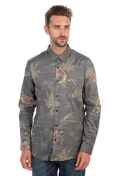 Рубашка Quiksilver Parrotjungleshl Parrot Jungle Tarmac<br><br>Цвет: серый<br>Тип: Рубашка<br>Возраст: Взрослый<br>Пол: Мужской