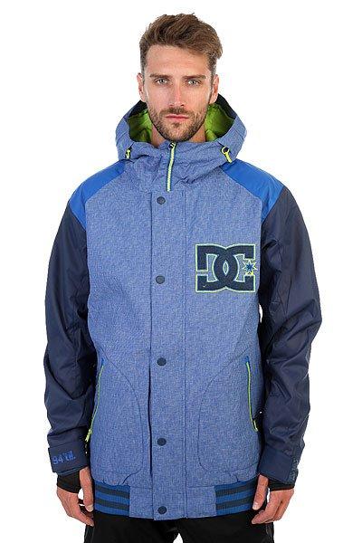 Куртка DC Dcla Nautical BlueЕсли у Вас есть любимая куртка в стиле формы американских колледж-курток, то у Вас есть шанс обзавестись зимним вариантом, выгодно отличающимся не только утеплителем, но и влагостойкой мембраной Exotex 10K.Технические характеристики: Мембрана EXOTEX 10К (10 000 мм, 10 000 г/кв.).Рукава и плечи из технологичного текстиля кареточного плетения.Теплая и уютная подкладка из тафты.Утеплитель (тело 80 г, рукава 40 г).Критические швы проклеены.Вставки из сетки для воздухообмена.Несъемная снежная юбка.Капюшон с регулировкой.Система пристегивания куртки к штанам.Эластичные манжеты с отверстием для большого пальца.Эргономичные рукава.Выход для провода наушников.Карманы с утепленной подкладкой на молнии.Кармашек для скипасса на молнии на рукаве.Внутренний сеточный карман для маски.<br><br>Цвет: синий<br>Тип: Куртка утепленная<br>Возраст: Взрослый<br>Пол: Мужской