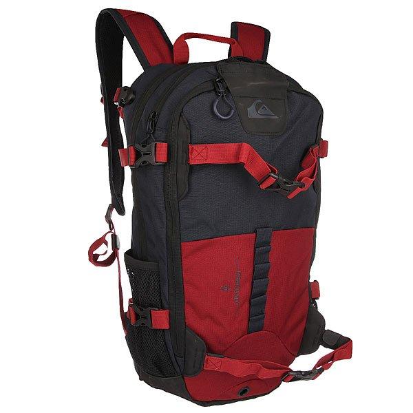 Рюкзак туристический Quiksilver Oxydized Pro Navy BlazerФункциональный рюкзак Oxydized Pro для активного отдыха со специальными креплениями для лыж и сноуборда. В рюкзаке имеются несколько карманов для необходимых вещей на склоне.Технические характеристики: Передний карман для крепления щупа и лопатки с быстрым доступом.Карман для маски на флисовой подкладке.Карман для ноутбука.Компактная петельная система крепления лыж.Система горизонтального и вертикального крепления сноуборда.Подходит для использования с системой гидрации.Съемный ремень на уровне пояса.Формованные плечевые ремни.Регулируемая горизонтальная лямка для оптимального распределения нагрузки.Сигнальный свисток.<br><br>Цвет: черный,бордовый,синий<br>Тип: Рюкзак туристический<br>Возраст: Взрослый