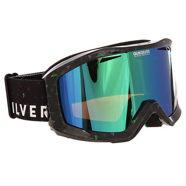 Маска для сноуборда Quiksilver Fenom Pack BlackМаска, которая даст Вам новый взгляд на вещи в буквальном смысле!Лучшее снаряжение для лучших!Характеристики:Устойчивый к царапинам фильтр на 100% защищает от ультрафиолетового излучения (блокирует вредное UVA, UVB, UVC излучение, а также ультрафиолетовое излучение до 400 NM).  Цилиндрическая поликарбонатная двойная линза, выполненная по технологии High-Definition.Антиударная и устойчивая к царапинам низкопрофильная оправа PU (органический полимер). Перфорация линз для улучшенной вентиляции.  Технология антизапотевания Quiksilver Anti-fog. Тройное флисовое  покрытие гибкой оправы для дополнительного комфорта. Совместимость с любим видом шлемов.Оптимизирована для средней и широкой формы  лица. Мягкая флисовая сумочка для защиты маски при ношении. Сменная линза в комплекте.<br><br>Цвет: черный<br>Тип: Маска для сноуборда<br>Возраст: Взрослый<br>Пол: Мужской