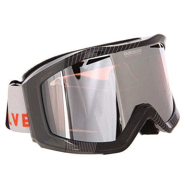 Маска для сноуборда Quiksilver Fenom Pack FlameМаска, которая даст Вам новый взгляд на вещи в буквальном смысле!Лучшее снаряжение для лучших!Характеристики:Устойчивый к царапинам фильтр на 100% защищает от ультрафиолетового излучения (блокирует вредное UVA, UVB, UVC излучение, а также ультрафиолетовое излучение до 400 NM).  Цилиндрическая поликарбонатная двойная линза, выполненная по технологии High-Definition.Антиударная и устойчивая к царапинам низкопрофильная оправа PU (органический полимер). Перфорация линз для улучшенной вентиляции.  Технология антизапотевания Quiksilver Anti-fog. Тройное флисовое  покрытие гибкой оправы для дополнительного комфорта. Совместимость с любим видом шлемов.Оптимизирована для средней и широкой формы  лица. Мягкая флисовая сумочка для защиты маски при ношении. Сменная линза в комплекте.<br><br>Цвет: черный,серый<br>Тип: Маска для сноуборда<br>Возраст: Взрослый<br>Пол: Мужской