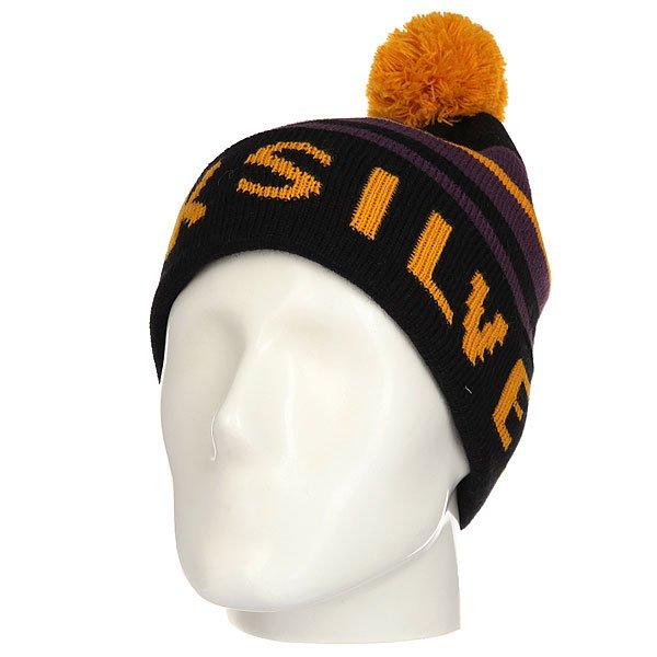 Шапка Quiksilver Summit Cadmium Yellow<br><br>Цвет: черный,фиолетовый,оранжевый<br>Тип: Шапка<br>Возраст: Взрослый<br>Пол: Мужской