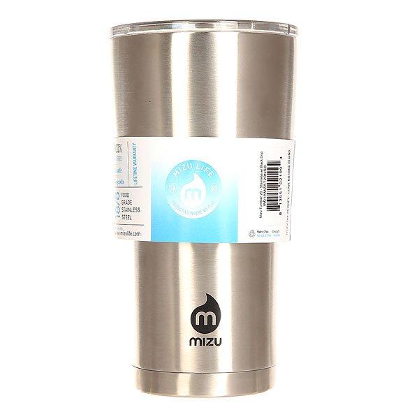 Термокружка Mizu Tumbler 20 Stainless Black DripУдобный и прочный стальной стакан, который можно взять с собой куда угодно - правильная альтернатива бумажным одноразовым стаканам. Mizu Tumbler объемом чуть больше полулитра удобно ляжет в руку, позволяя наслаждаться горячим кофе из термоса или соседней кофейни или холодным более крепким напитком, сохраняя вкус и температуру напитка.Характеристики:Объем: 630 мл. Диаметр: 9,5 см.Высота (с крышкой): 17,5 см. Вес: 289 гр. Нержавеющая сталь 18/8.Пластиковая крышка с плотным прилеганием. Вакуумная структура. Подходит для горячих и холодных напитков. Не содержит бисфенола (BPA Free). Многоразовое использование.<br><br>Цвет: серый<br>Тип: Термокружка<br>Возраст: Взрослый<br>Пол: Мужской