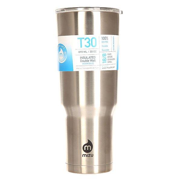 Термокружка Mizu Tumbler 30 Stainless Black DripУдобный стальной стакан с крышкой - правильная альтернатива бумажным одноразовым стаканам. Mizu Tumbler обладает не только внушительным объемом, но и удобно ляжет в руку, позволяя наслаждаться горячим кофе из термоса или соседней кофейни или холодным более крепким напитком, сохраняя вкус и температуру напитка.Характеристики:Объем: 930 мл. Диаметр: 9,5 см.Высота (с крышкой): 23,2 см. Вес: 364 гр. Нержавеющая сталь 18/8.Пластиковая крышка с плотным прилеганием. Вакуумная структура. Подходит для горячих и холодных напитков. Не содержит бисфенола (BPA Free). Многоразовое использование.<br><br>Цвет: серый<br>Тип: Термокружка<br>Возраст: Взрослый<br>Пол: Мужской