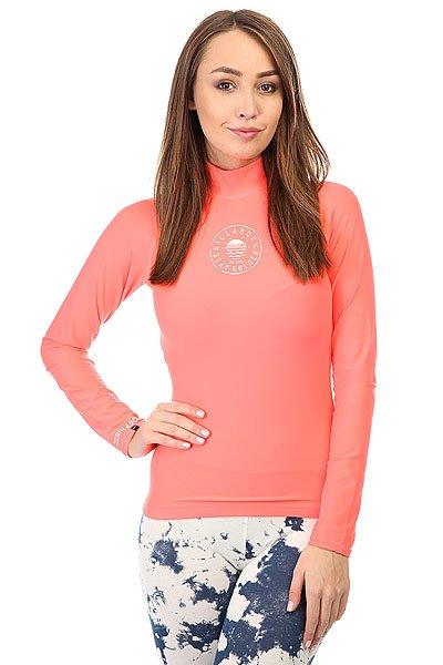 Гидрофутболка женская Billabong Logo In Ls Neon Coral