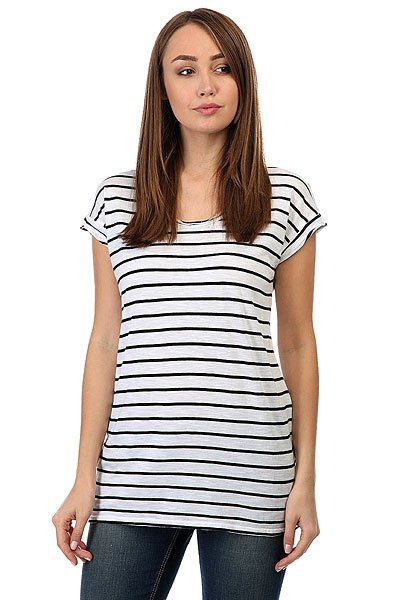 Футболка женская Billabong Essential Stripe<br><br>Цвет: черный,белый<br>Тип: Футболка<br>Возраст: Взрослый<br>Пол: Женский