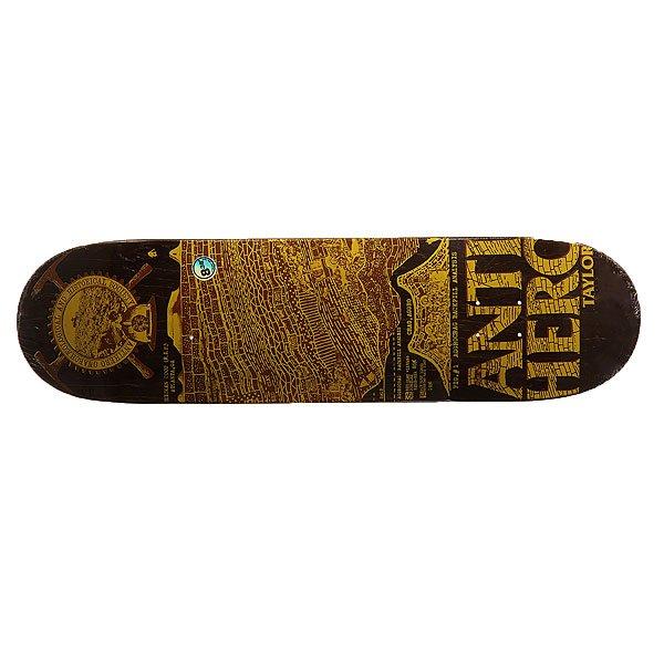 Дека для скейтборда для скейтборда Antihero Taylor Gnarchaeology 32.56 x 8.38 (21.3 см)Ширина деки: 8.38 (21.3 см)    Длина деки: 32.56 (82.7 см)    Количество слоев: 7<br><br>Цвет: коричневый,желтый<br>Тип: Дека для скейтборда<br>Возраст: Взрослый<br>Пол: Мужской