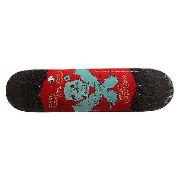 Дека для скейтборда для скейтборда Krooked Anderson Jabb Dance 31.84 x 8.18 (20.8 см)Ширина деки: 8.18 (20.8 см)    Длина деки: 31.84 (80.9 см)    Количество слоев: 7<br><br>Цвет: черный,красный,голубой<br>Тип: Дека для скейтборда<br>Возраст: Взрослый<br>Пол: Мужской