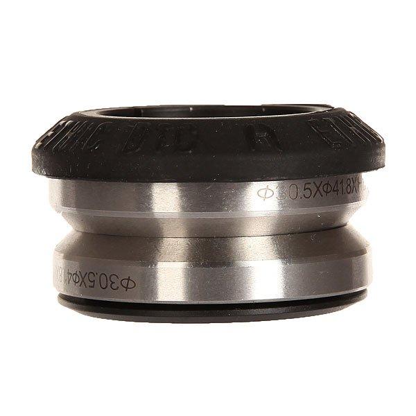 Рулевая Ethic Headset Silicone BlackЛегкая рулевая из алюминия с силиконовой крышкой.Технические характеристики: Силиконовая крышка уменьшает вес, предотвращает трение и снижает вибрации.Алюминий 6061.Вес 61 гр.Совместимость с интегрированной рулевой.<br><br>Цвет: черный<br>Тип: Рулевая