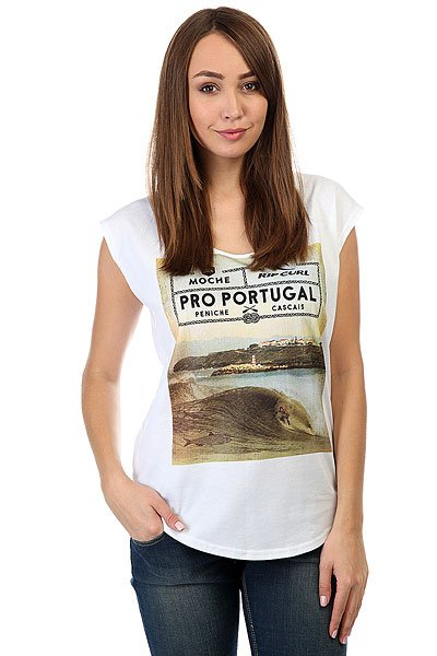 Футболка женская Rip Curl Poster Peniche White