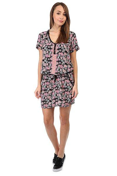 Платье женское Rip Curl Flower Power Dress Black<br><br>Цвет: черный,мультиколор<br>Тип: Платье<br>Возраст: Взрослый<br>Пол: Женский