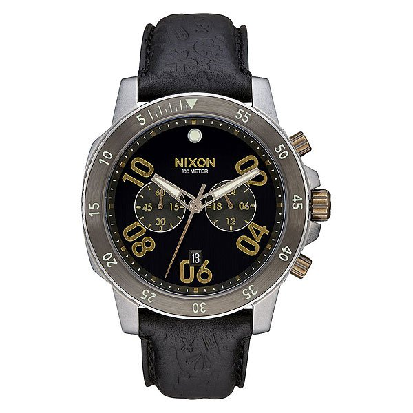 Кварцевые часы Nixon Ranger Chrono Leather Black/Brass